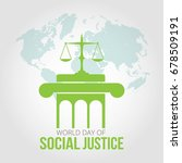 world day of social justice | Shutterstock .eps vector #678509191