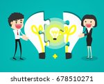 completing idea. business... | Shutterstock .eps vector #678510271