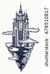 medieval castle tattoo art.... | Shutterstock .eps vector #678510817
