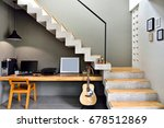 decorate the loft style... | Shutterstock . vector #678512869