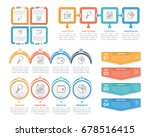 four steps infographic... | Shutterstock .eps vector #678516415
