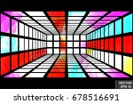 perspective. square. three... | Shutterstock .eps vector #678516691