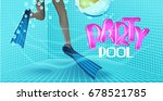 pool party background with view ... | Shutterstock .eps vector #678521785