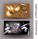 sparkling gold and silver vip... | Shutterstock .eps vector #678521845