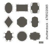vector image set of frames ... | Shutterstock .eps vector #678522085