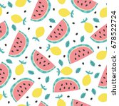 seamless vector pattern with... | Shutterstock .eps vector #678522724