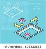 the pool project. swimming pool ... | Shutterstock .eps vector #678523885