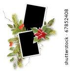 isolated christmas frame for... | Shutterstock . vector #67852408