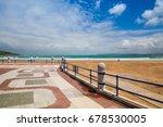 empty santander waterfront...   Shutterstock . vector #678530005