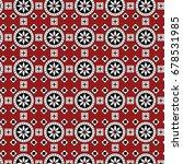 red sindhi ajrak pattern ... | Shutterstock .eps vector #678531985