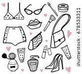 fashion accessories set for... | Shutterstock .eps vector #678533311