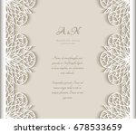 vintage vector frame with lace... | Shutterstock .eps vector #678533659