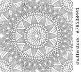 doodles mandala seamless...   Shutterstock .eps vector #678538441