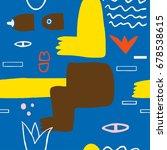 abstract modern art naked woman ... | Shutterstock .eps vector #678538615