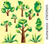 polygon tree clip art | Shutterstock .eps vector #678539641