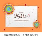 vector abstract for raksha... | Shutterstock .eps vector #678542044
