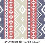 ikat ethnic pattern | Shutterstock .eps vector #678542134