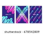 set of vibrant colorful line... | Shutterstock .eps vector #678542809