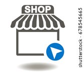 market place vector icon. shop... | Shutterstock .eps vector #678545665