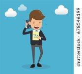 businessman in suit talking on...   Shutterstock .eps vector #678546199