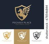 Stock vector pegasus logo template vector 678546844