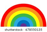 rainbow icon. shape arch... | Shutterstock .eps vector #678550135