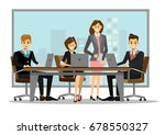 team of successful business... | Shutterstock .eps vector #678550327