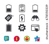 battery charging icons....