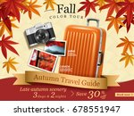 fall color tour ads  autumn... | Shutterstock .eps vector #678551947