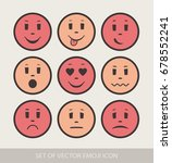 set of graphic emoticons.... | Shutterstock .eps vector #678552241