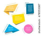 origami style text templates...   Shutterstock .eps vector #678553387