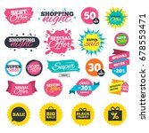 sale shopping banners. sale...   Shutterstock .eps vector #678553471