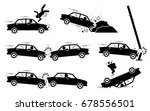 car accident and crash.... | Shutterstock .eps vector #678556501