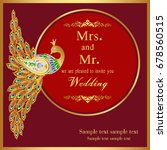 wedding invitation or card with ... | Shutterstock .eps vector #678560515