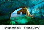 greece  the island of zakynthos.... | Shutterstock . vector #678560599