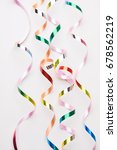 holiday ribbons | Shutterstock . vector #678562219