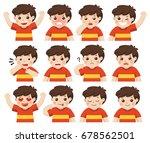 set of adorable boy facial... | Shutterstock .eps vector #678562501