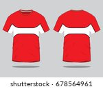 red   white t shirt design | Shutterstock .eps vector #678564961