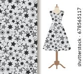 womens dress fabric pattern... | Shutterstock .eps vector #678565117