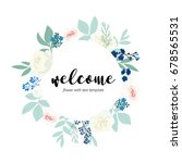 welcome word hand drawn with... | Shutterstock .eps vector #678565531