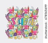 school elements clip art doodle ... | Shutterstock .eps vector #678565699