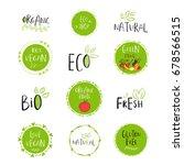 vector eco  bio green logo or... | Shutterstock .eps vector #678566515
