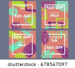 a set with vector square sale... | Shutterstock .eps vector #678567097