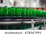 green glass bottles without... | Shutterstock . vector #678567991