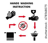 hand washing instruction  ... | Shutterstock .eps vector #678568075