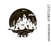 magic arctic  silk screen tee... | Shutterstock .eps vector #678571117