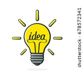 vector illustration. light bulb ... | Shutterstock .eps vector #678572341