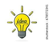 vector illustration. light bulb ... | Shutterstock .eps vector #678572341