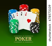 poker banner with realistic... | Shutterstock .eps vector #678573109