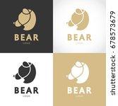 bear logo design. vector... | Shutterstock .eps vector #678573679